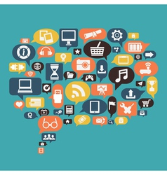 Concept of content social media vector