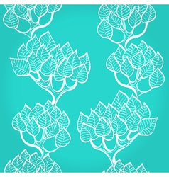 Blue background with trees vector