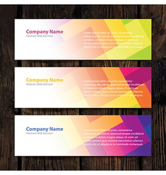 Abstract web banners vector