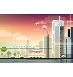 Futuristic city design vector