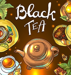 Tea background vector