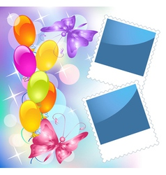 Birthday frames vector