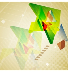 Abstract geometric triangles background vector