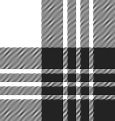 Macgregor tartan black and white seamless pattern vector