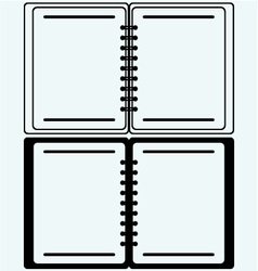 Notebook vector image