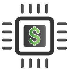 Processor price gradient icon vector