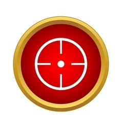 Aim icon simple style vector
