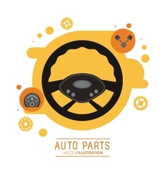 Rudder icon auto part design graphic vector
