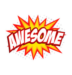 Awesome comic splash bubble text vector