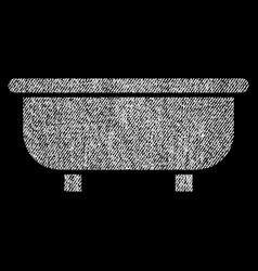Bathtub fabric textured icon vector