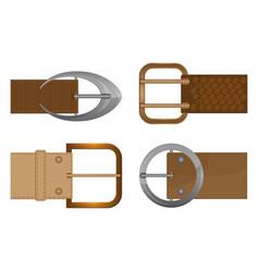 Belt buckles metal unisex clothing accessories vector
