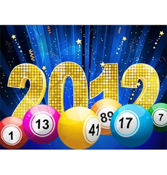 bingo or lottery balls vector image vector image