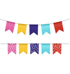Bunting flags isolated vector