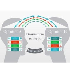 Business brainstorm concept vector