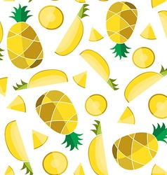 Colorful seamless pattern of pineapple slice vector