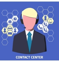 Contact center employee vector