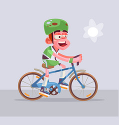 cyclist man character rides vector image vector image