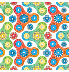 fidget spinner toy seamless pattern vector image