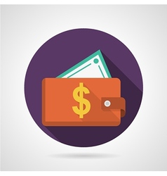 Flat icon for red wallet vector image vector image