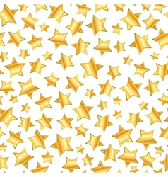golden stars on white seamless pattern vector image