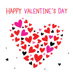 Happy valentine day sweetheart cartoon vector