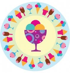 ice creams sign vector image vector image