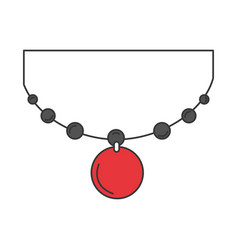 Japanese necklace isolated icon vector