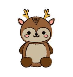 Kawaii animal icon vector