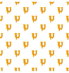 Letter u from honey pattern vector