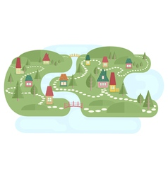 Map with fairyland vector