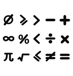 Math icons set vector