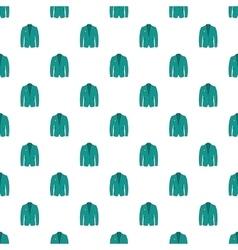 Men green jacket pattern cartoon style vector