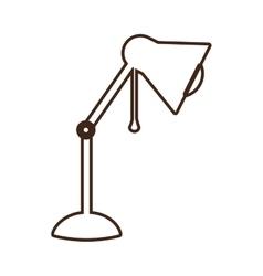 Monochrome contour lamp of desktop adjustable vector