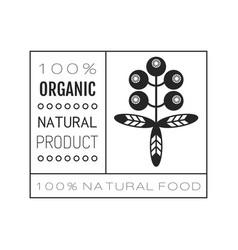 organic food logo badge label for healthy vector image vector image