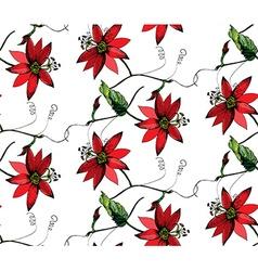 Passiflora pattern vector image vector image