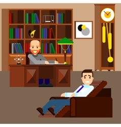 Psychologist concept flat isolated vector