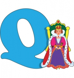 Q is for queen vector image