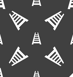Railway track icon sign Seamless pattern on a gray vector image vector image