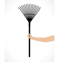 rake in hand vector image