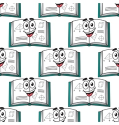 Seamless pattern of a happy science textbook vector image