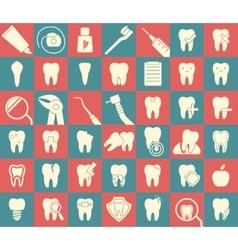 Set dental icons vector