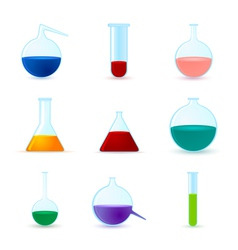 set of chemical icons vector image vector image