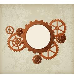 Steampunk background vector