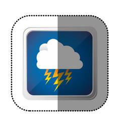 symbol cloud ray icon vector image vector image