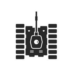 Unusual tank black icon vector