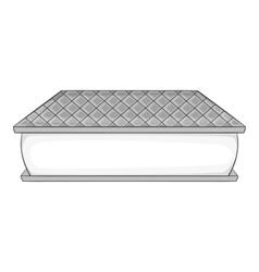 Waffle ice cream icon gray monochrome style vector