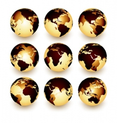 world set vector image vector image