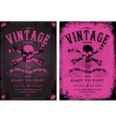 Vintage pink poster vector image