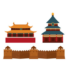 Great wall of china beijing asia landmark brick vector