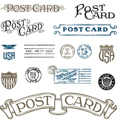 Vintage stamp set vector